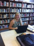 enjoying the new library