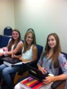freshmen enjoying freshmen seminar .