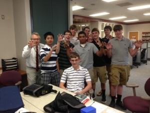 Kmidowski's crew celebrates Josh!!