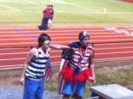 School spirit abounds at Friday's football game.