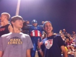 Captain America shows up at Cannon!