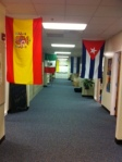 A new great look in the foreign language hallway.