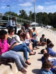 Cooler weather lends itself to reading Shakespeare outdoors.