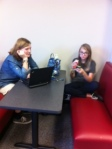 check out the new booths in the library.