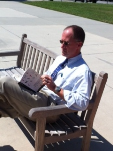 Mr. Cobb enjoys first Reading Invasion at Cannon.