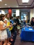 students lined up to register for WInterm.