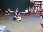 Mr. Coggins instructs students in the yoga practice during the day and to the faculty on Thursday afternoons.