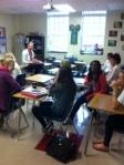 Freshmen advisory enjoys time together.