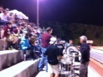 The band kept fans' spirits high. Great music at the football game.