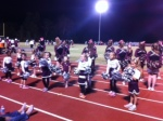 lower school cheerleaders joined our Varsity cheer squad Friday night.
