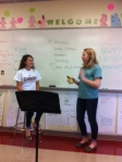 English II students learn about beats and blocking.