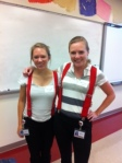 Freshmen Advisors get into twin day!