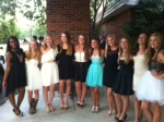 Freshmen girls attend Homecoming dance.