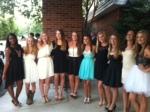 Freshmen girls attend Homecoming dance.