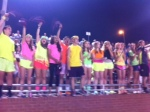 Neon night at Friday's game.