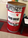 Support the Hunger Drive by bringing in cans for your house.