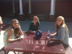 Sophomores enjoy the beautiful sun during lunch time.