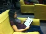 Freshmen enjoy reading during Arts drop Thursday.