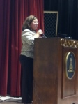Ms. Nunes spoke to the entire upper school about the MURDOCK study.