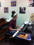 Independent study in Piano lab. What beautiful music.