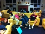 Juniors chillin with their posse in the Commons.