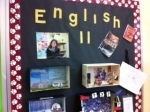 Sophomore independent reading projects are on display