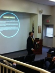 Mr. Hurtado spoke to upper school parents and administration about the how of teaching and learning.