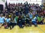 Tennis and Volleyball teams bring the spirit to the pep rally Friday.