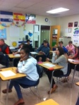 Students ready for PSAT testing.