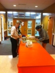 Cannon parents graciously provide breakfast for seniors on Wednesday.