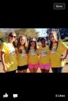 Varsity tennis team members volunteer at Charlotte Challenge Tournament.