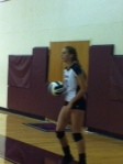Freshmen are a big part of the Varsity Volleyball team.