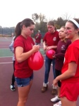 Balloon stomp was a success during House Games.