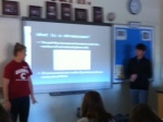 Biology students present on Chromosomes.