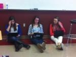 Close reading during English II.