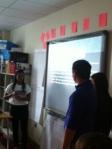 English III students present on the Crucible.
