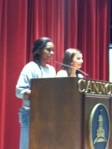 Freshmen Julia and Leah speak about ways to help CVAN.