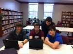 Sophomores enjoy drop in the library.