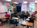 Senora Zelaya's class enjoying their time together.