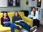 Lounging in the Commons just before Thanksgiving break.