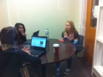 The fishbowl gets used for studying.