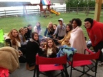 Zelaya's advisory gathers for fellowship this past weekend.