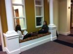 Students enjoy reading during long block.