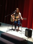 Beautiful voice shared during the talent show Wednesday.