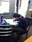 Colleen works diligently.