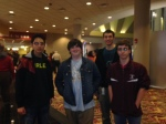 Dr. Donah's advisory gathered at the movies this weekend before exams.