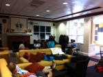 students use commons to study and relax.