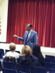 Jp Morgan speaks to parents about crime and the law.