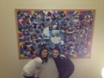 Check out  Cracking Charlotte's  fabulous collage in the stairway of the Freshmen hall.