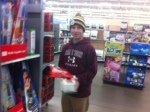 A visiting to Walmart during Winterm.